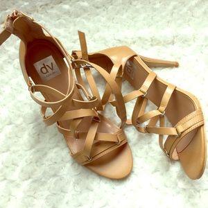 Dolce Vita Womens Criss Crox Strappy Heel Sandal